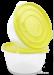 2ks MÍSO-BOX 1400 ml s odměrkami žlutozelený