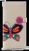 Dámská peněženka s aplikací motýla přírodní