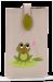 Pouzdro na mobil s aplikací žabky přírodní