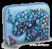 Dámská peněženka menší s motivem slona modrá