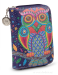 Dámská peněženka menší s motivem sovy fialová