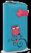 Dámská peněženka s aplikací sovy a květin tyrkysová