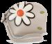 Dámské pouzdro s aplikací květin smetanové