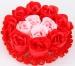 Mýdlové růžičky červeno - růžové