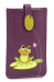 Pouzdro na mobil s aplikací žabky fialová