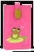 Pouzdro na mobil s aplikací žabky fuchsiová