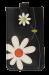Pouzdro na mobil s aplikací květin černé