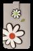 Pouzdro na mobil s aplikací květin smetanové