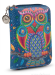 Dámská peněženka menší s motivem sovy modrá