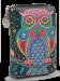 Dámská peněženka menší s motivem sovy petrolejová