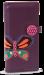 Dámská peněženka s aplikací motýla fialová