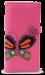 Dámská peněženka s aplikací motýla fuchsiová